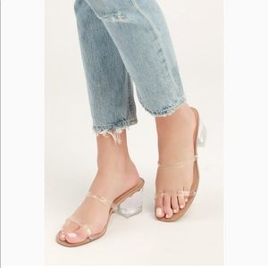 Steve Madden Issy Clear Translucent Sandals Heels
